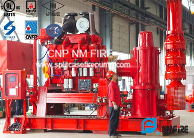 Flow Up To 5000GPM NFPA20 Standard Firefighting Pump Sets With Diesel Engine Driven Vertial Turbine Fire Pump