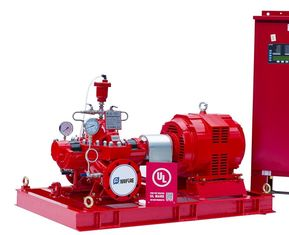Horizontal Split Case Fire Pump With Electric Motor Driven Water Supply